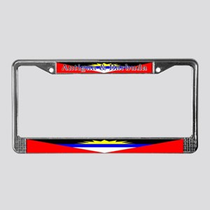 Antigua Barbuda Blank Flag License Plate Frame