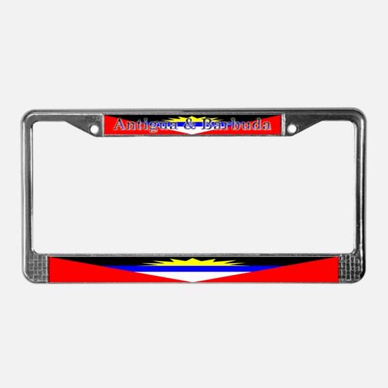 Antigua Barbuda Blank Flag License Plate Frame