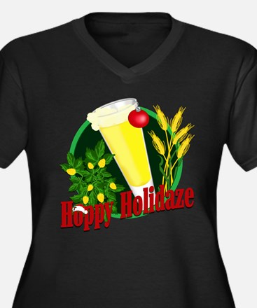 Holidaze Women's Plus Size V-Neck Dark T-Shirt