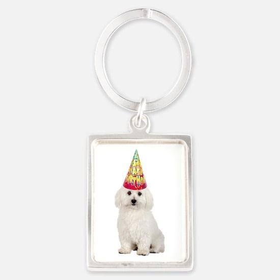 Bichon Frise Birthday Keychains
