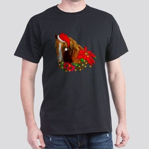 Christmas Horse Dark T-Shirt