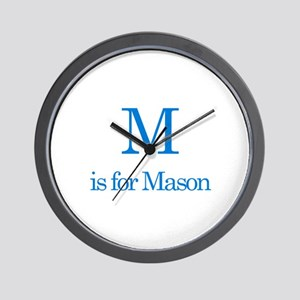 M is for Mason Wall Clock