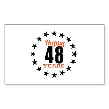 Happy 48 Years Birthday Sticker (Rectangle)