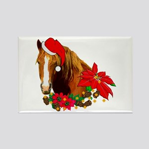 Christmas Horse Rectangle Magnet