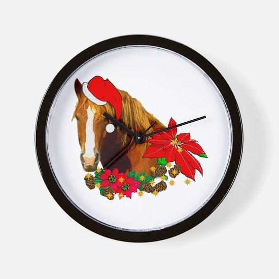 Christmas Horse Wall Clock