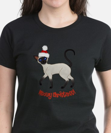 Christmas Siamese Women's Dark T-Shirt