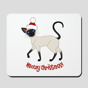 Christmas Siamese Mousepad