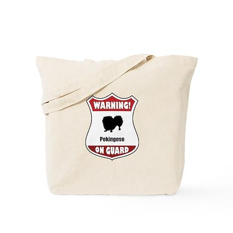 Pekingese On Guard Tote Bag