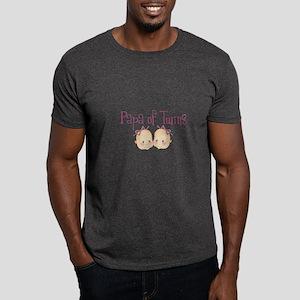 Papa of Girl Twins Dark T-Shirt