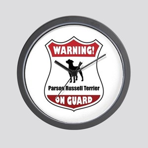 Terrier On Guard Wall Clock