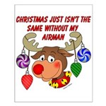 Christmas without my Airman Small Poster