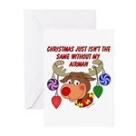 Christmas without my Airman Greeting Cards (Pk of