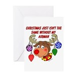 Christmas without my Airman Greeting Card