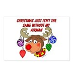 Christmas without my Airman Postcards (Package of