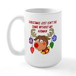 Christmas without my Airman Large Mug