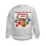 Christmas without my Airman Kids Sweatshirt