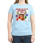 Christmas without my Airman Women's Light T-Shirt