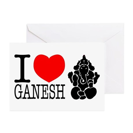 I Love Ganesh Greeting Cards (Pk of 10)