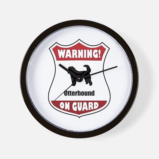 Otterhound On Guard Wall Clock