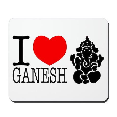 I Love Ganesh Mousepad