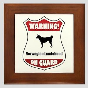 Lundehund On Guard Framed Tile