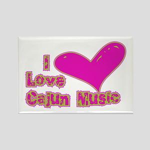 I Love Cajun Music Rectangle Magnet