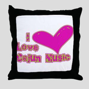 I Love Cajun Music Throw Pillow