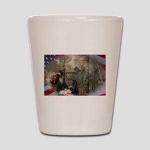 Vietnam Veterans Memorial Shot Glass