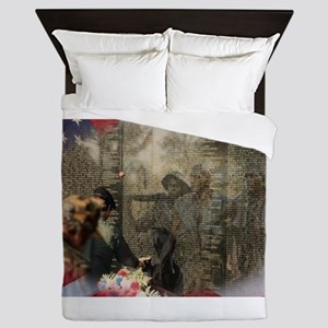Vietnam Veterans Memorial Queen Duvet