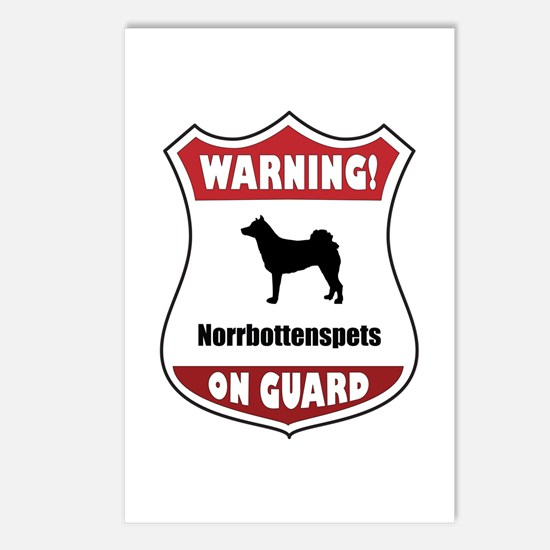 Norrbottenspets On Guard Postcards (Package of 8)