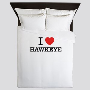 I Love HAWKEYE Queen Duvet