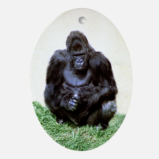 Hand Hold Ape Oval Ornament