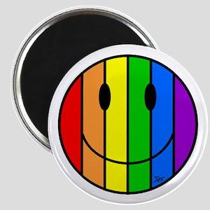 Rainbow Smiley Magnet