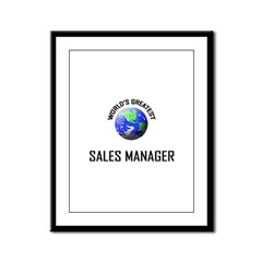 World's Greatest SALES MANAGER Framed Panel Print