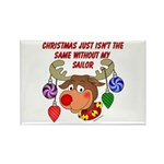 Christmas without my Sailor Rectangle Magnet (100