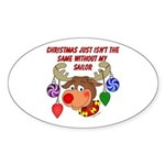 Christmas without my Sailor Oval Sticker