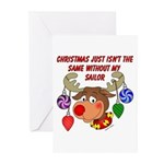 Christmas without my Sailor Greeting Cards (Pk of