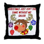 Christmas without my Sailor Throw Pillow
