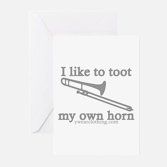 Toot Trombone Greeting Cards (Pk of 10)