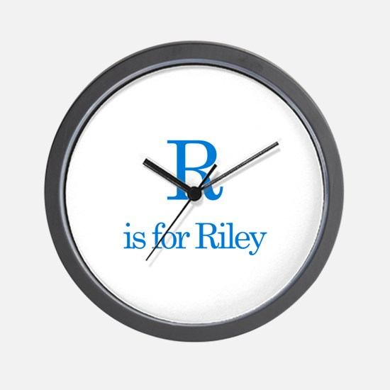 R is for Riley Wall Clock