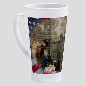 Vietnam Veterans Memorial 17 oz Latte Mug