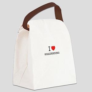 I Love GOALTENDING Canvas Lunch Bag