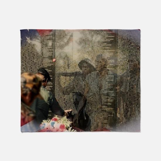 Vietnam Veterans Memorial Throw Blanket