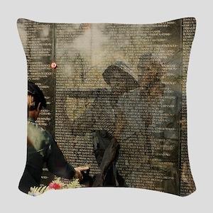 Vietnam Veterans Memorial Woven Throw Pillow
