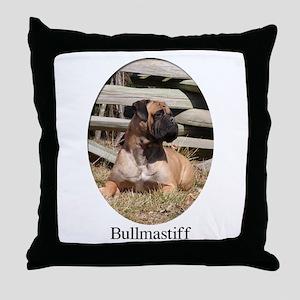 Bullmastiff Color Laying Down Throw Pillow