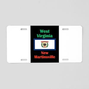 New Martinsville West Virginia Aluminum License Pl