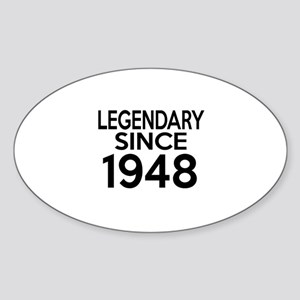 Legendary Since 1948 Sticker (Oval)