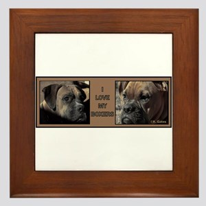 I love my Boxers- Two Framed Tile