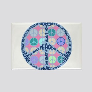 Multi Peace On Earth Sign Rectangle Magnet