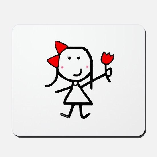Girl & Logo Flower Mousepad